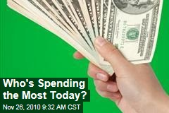 Who's Spending the Most Today?