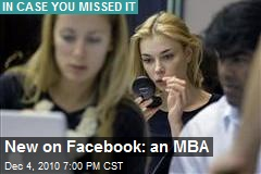 New on Facebook: an MBA