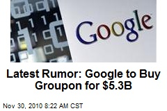 Latest Rumor: Google to Buy Groupon for $5.3B
