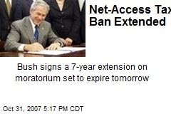 Net-Access Tax Ban Extended