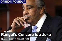 Rangel's Censure Is a Joke