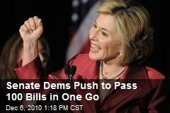 Senate Dems Push to Pass 100 Bills in One Go
