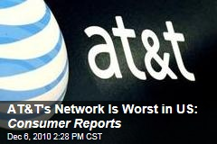 AT&T's Network Is Worst in US: Consumer Reports