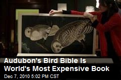 Audubon's Bird Bible Is World's Most Expensive Book