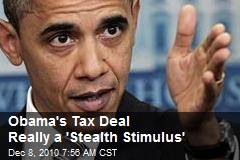 Obama's Tax Deal Really a 'Stealth Stimulus'