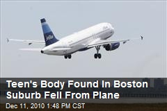 Body Found In Boston Suburb Fell From Plane