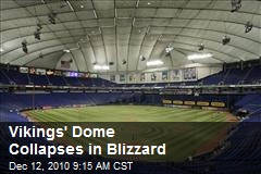 Vikings' Dome Collapses in Blizzard