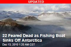 5 Dead as Fishing Boat Sinks Off Antarctica