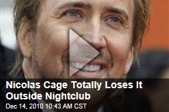 Video: Nicolas Cage Loses it Outside Romania Nightclub