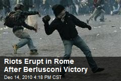 Rome Streets in Chaos After Berlusconi Victory