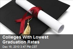 Colleges With Lowest Graduation Rates