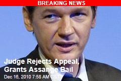 Judge Rejects Appeal, Grants Assange Bail