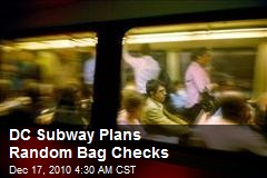 DC Subway Plans Random Bag Checks