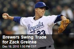 Brewers Swing Trade for Zack Greinke
