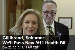 Gillibrand, Schumer: We'll Pass New 9/11 Health Bill