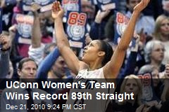 UConn Women's Team Wins Record 89th Straight