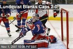 Lundqvist Blanks Caps 2-0