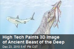 High Tech Paints 3D Image of Ancient Beast of the Deep