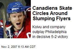 Canadiens Skate Circles Around Slumping Flyers