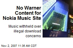 No Warner Content for Nokia Music Site