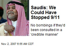 Saudis: We Could Have Stopped 9/11