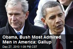 Obama, Bush Most Admired Men in America: Gallup