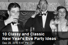 10 Classy and Classic New Year's Eve Party Ideas