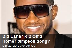 Did Usher Rip Off a Homer Simpson Song?