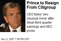 Prince to Resign From Citigroup