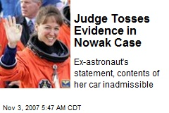 Judge Tosses Evidence in Nowak Case