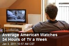 Average American Watches 34 Hours of TV a Week