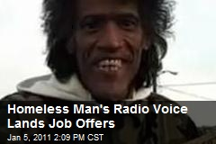 Homeless Man's Radio Voice Lands Job Offers