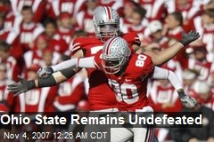 Ohio State Remains Undefeated