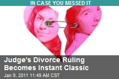 Judge's Divorce Ruling Becomes Instant Classic