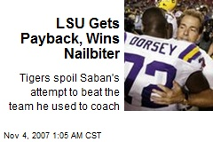 LSU Gets Payback, Wins Nailbiter