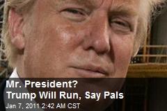 Mr. President? Trump Will Run, Say Pals