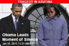 Obama Leads Moment of Silence