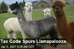 Tax Code Spurs Llamapalooza