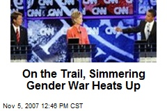 On the Trail, Simmering Gender War Heats Up