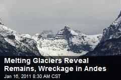 Melting Glaciers Reveal Remains, Wreckage