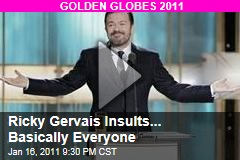 Ricky Gervais Insults... Basically Everyone