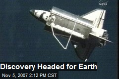 Discovery Headed for Earth
