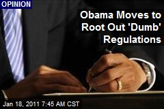 Obama Moves to Root Out 'Dumb' Regulations