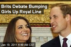 Brits Debate Bumping Girls Up Royal Line