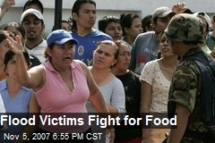 Flood Victims Fight for Food