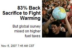 83% Back Sacrifice to Fight Warming