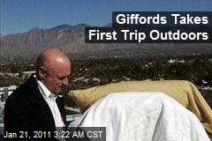 Giffords Takes First Trip Outdoors