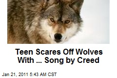 Teen Scares Off Wolves With ... Song by Creed