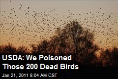 USDA: We Poisoned Those 200 Dead Birds