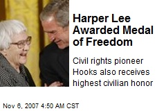 Harper Lee Awarded Medal of Freedom
